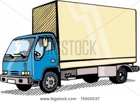 Transportation and container truck. Check my portfolio for many more images of this series.