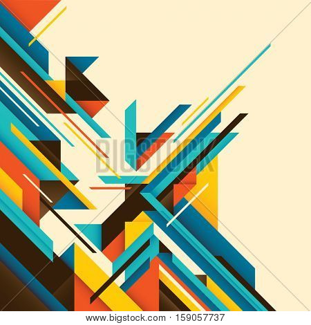 Geometric style colorful abstraction. Vector illustration.