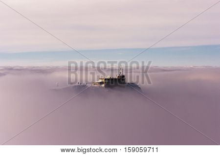 Meteorological observatory on Kasprowy Wierch. Tatry. Poland