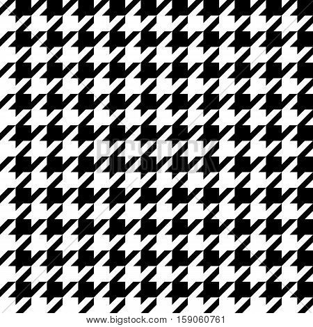 seamless pattern with dogstooth vector background black and white