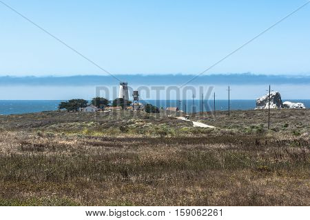 San Simeon,California,USA - June 19, 2015 : The Piedras Blancas Lighthouse