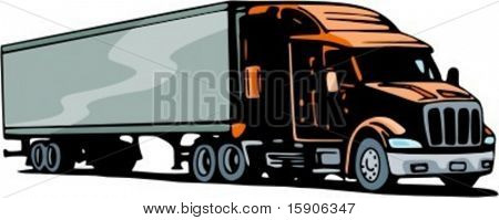 Transportation and container truck.