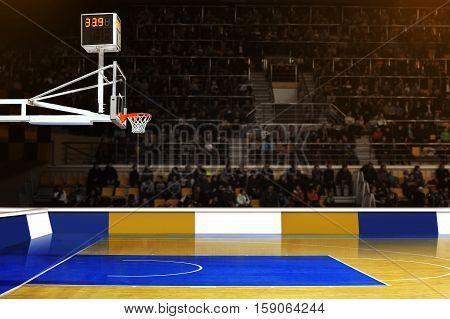 At A Basketball Game