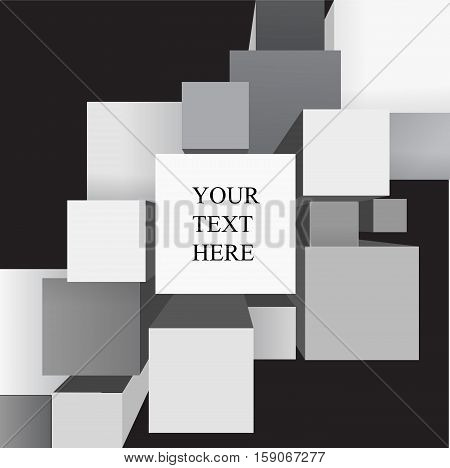 abstract background. banner or website design. stock vector. geometric shape