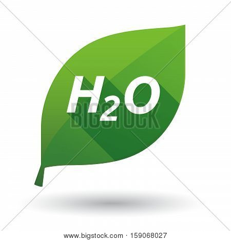 Isolated Leaf Icon With    The Text H2O