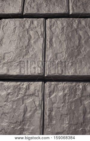 New natural black roof tile pattern closeup
