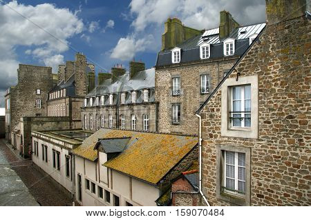 Saint-malo-- Is A Walled Port City In Brittany In Northwestern France On The English Channel. It Is