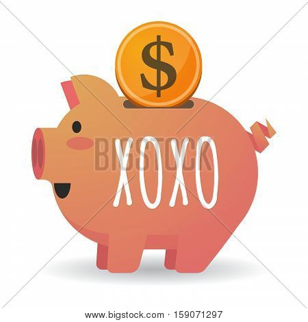 Isolated Piggy Bank With    The Text Xoxo