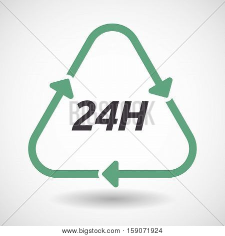 Isolated Recycle Sign With    The Text 24H