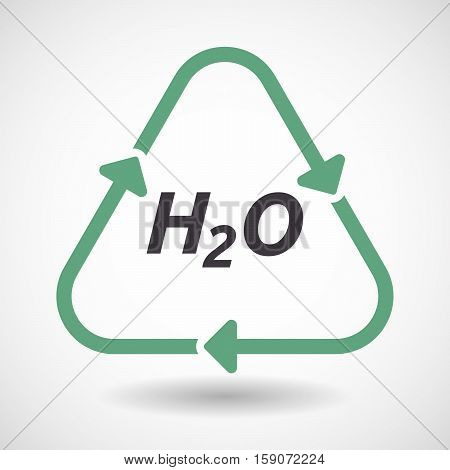 Isolated Recycle Sign With    The Text H2O