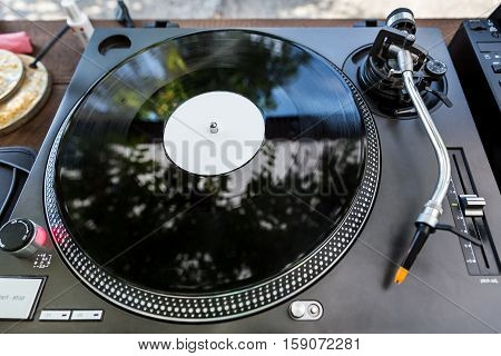 Dj Vinyl Player At Club