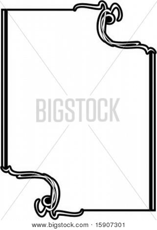 Ornamental Vector Panel/Frame 69 with very clean and exquisite details.