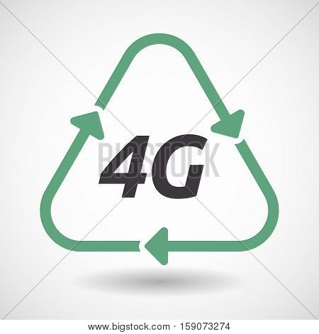 Isolated Recycle Sign With    The Text 4G