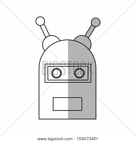 Robot cartoon icon. Robotic technology machine cyborg and science theme. Isolated design. Vector illustration