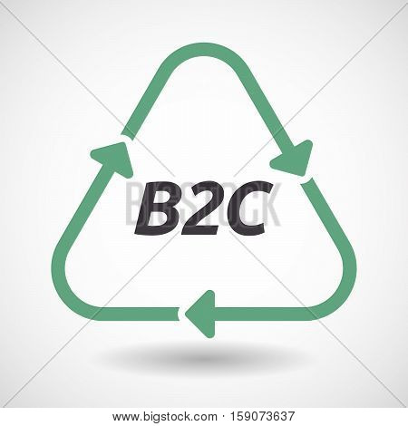 Isolated Recycle Sign With    The Text B2C