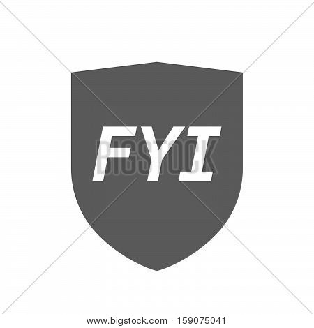 Isolated Shield With    The Text Fyi