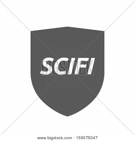 Isolated Shield With    The Text Scifi