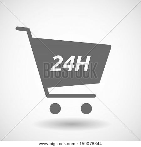 Isolated Cart With    The Text 24H