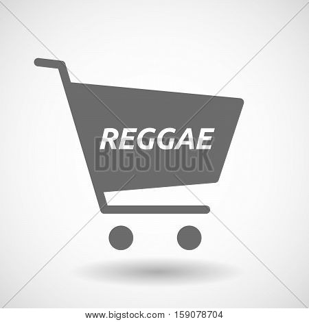 Isolated Cart With    The Text Reggae
