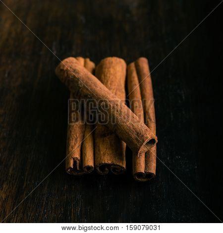 Several Pieces Of Cinnamon Spice