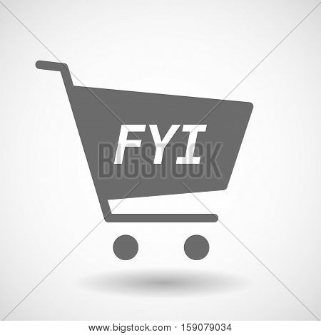 Isolated Cart With    The Text Fyi