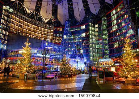 Sony Center on the Potsdamer Platz. Berlin Germany - 29.11.2016.