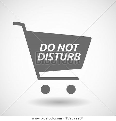 Isolated Cart With    The Text Do Not Disturb