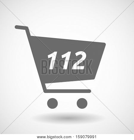 Isolated Cart With    The Text 112