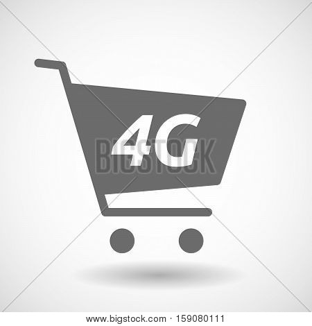Isolated Cart With    The Text 4G