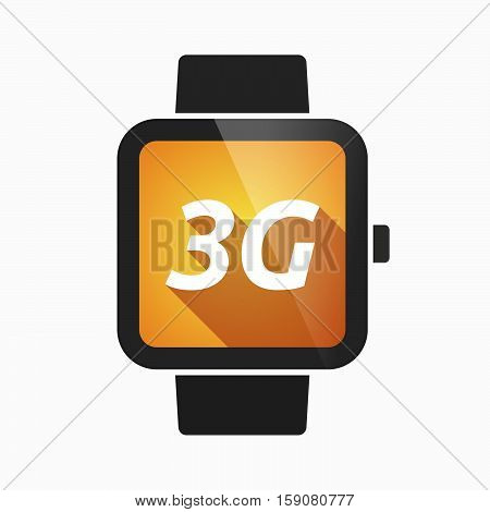 Isolated Smart Watch With    The Text 3G
