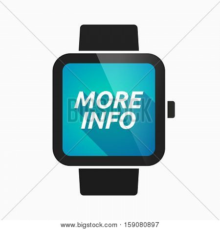 Isolated Smart Watch With    The Text More Info