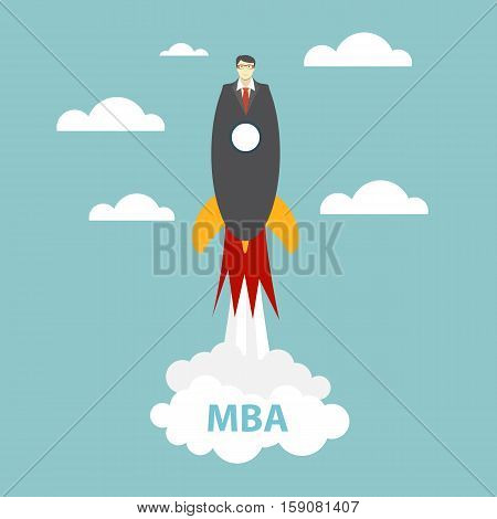 Business MBA Education Concept. Trends and innovation in education. Vector Illustration EPS10