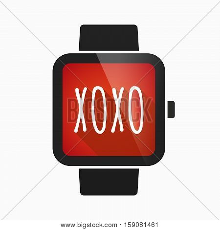 Isolated Smart Watch With    The Text Xoxo