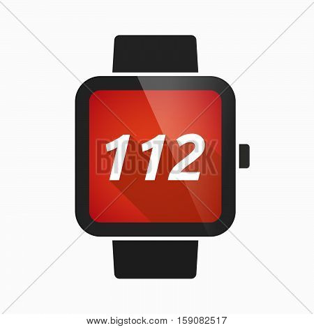 Isolated Smart Watch With    The Text 112