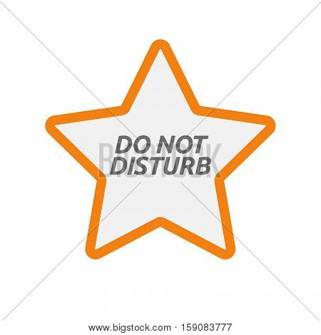 Isolated Star Icon With    The Text Do Not Disturb