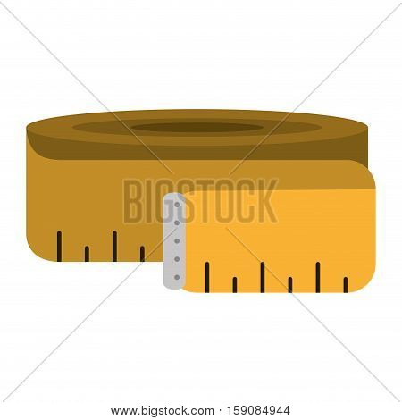 measuring tape lose weight fitness gym vector illustration eps 10