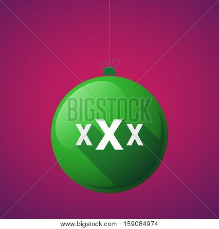 Long Shadow Christmas Ball With  A Xxx Letter Icon