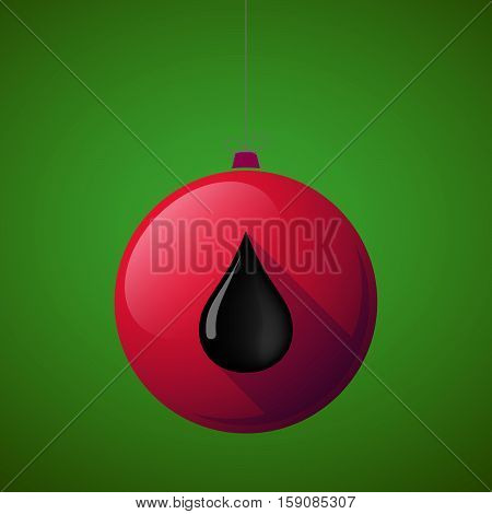 Long Shadow Christmas Ball With  An Oil Drop Icon
