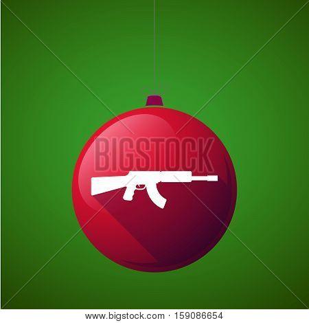 Long Shadow Christmas Ball With  A Machine Gun Sign