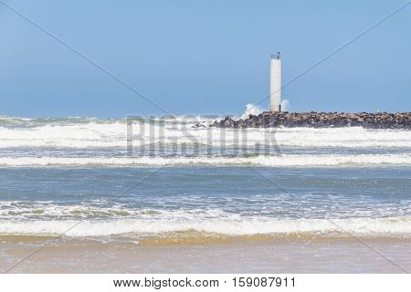 Torres Lighthouse In A Windy Day And Blue Sky