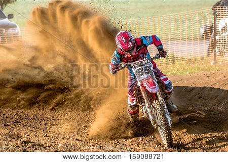 Gdansk, Poland - September 10 : Undefined Rider On Polish Motocross Championship Poland, Gdansk 10 S