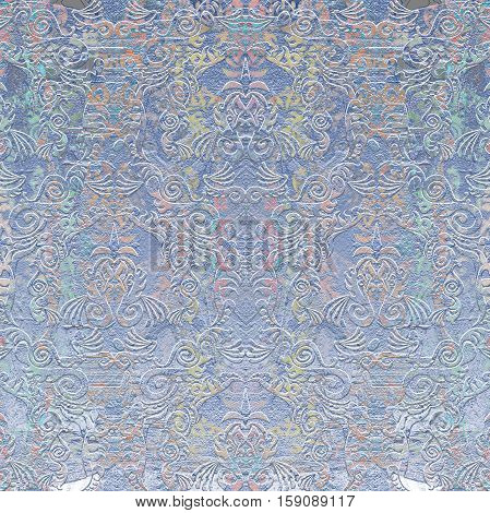 pastel colored abstract design relief background blue