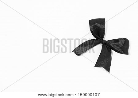 The black bow ribbon Sign of mourning