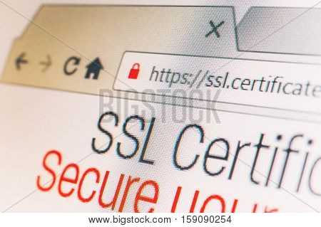 Https url address and lock symbol during SSL connection