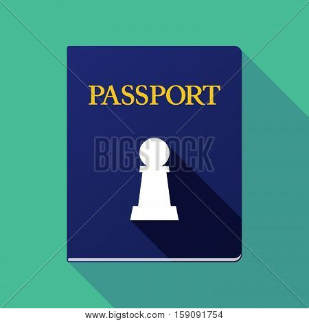 Long Shadow Passport With A  Pawn Chess Figure