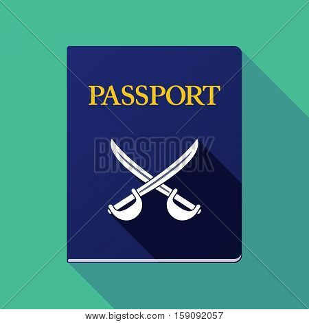 Long Shadow Passport With  Two Swords Crossed
