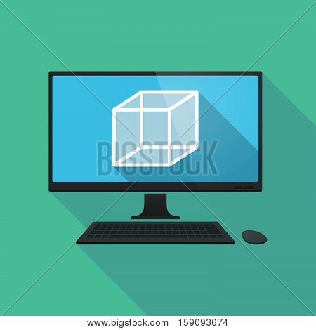 Long Shadow Pc With  A Cube Sign