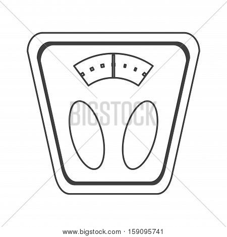 outline analog weight scale fitness vector illustration eps 10