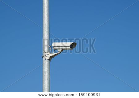 security camera and urban video for surveillance ar pole