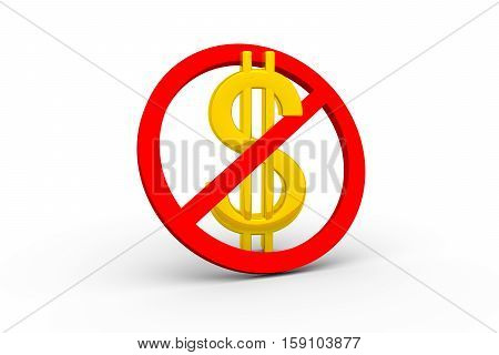 dollar in the frame means free purchase Gratis 3d illustration